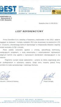 List Referencyjny: Best