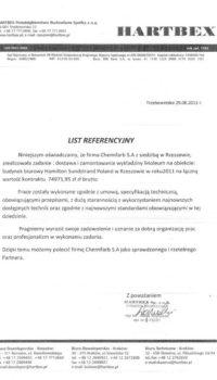List Referencyjny: hartbex