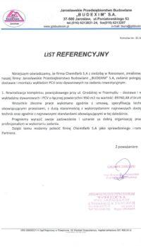 List Referencyjny: Budexim