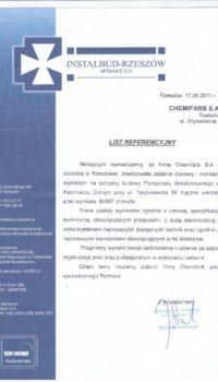 List Referencyjny: instal-bud