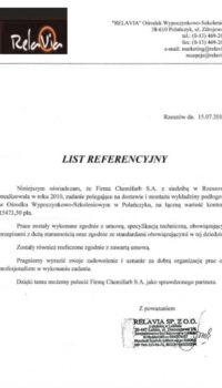 List Referencyjny: relavia