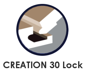 CREATION 30 lock SYSTEM